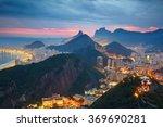 Stock photo night view of rio de janeiro brazil 369690281