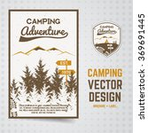 camping adventure vector... | Shutterstock .eps vector #369691445