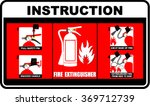 instructions  extinguisher ... | Shutterstock .eps vector #369712739