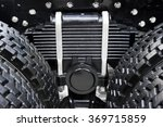 leaf spring with four tires of... | Shutterstock . vector #369715859