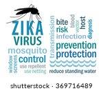 zika virus collage. mosquito ... | Shutterstock .eps vector #369716489