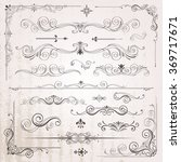 vintage frames and scroll... | Shutterstock .eps vector #369717671