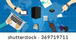 intranet network computer... | Shutterstock .eps vector #369719711