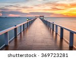 Wooded Bridge In The Port At...