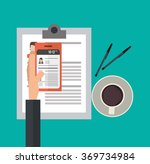 human resources design  | Shutterstock .eps vector #369734984