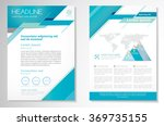 vector brochure flyer design... | Shutterstock .eps vector #369735155