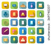 gadget color icons with long... | Shutterstock .eps vector #369740207