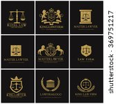 lawyer and law firm logo set | Shutterstock .eps vector #369751217