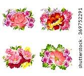 flower set | Shutterstock .eps vector #369752291