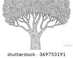 forest tree isolated  big old... | Shutterstock .eps vector #369753191