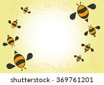 Bees Cartoon Background