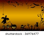 halloween illustration with... | Shutterstock . vector #36976477
