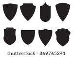 medieval shield. set icon.... | Shutterstock .eps vector #369765341