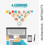 e learning concept design  | Shutterstock .eps vector #369766271