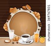 breakfast background with...   Shutterstock .eps vector #369767831