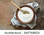 homemade yogurt or sour cream... | Shutterstock . vector #369768824