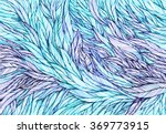 pattern of blue violet feathers ... | Shutterstock . vector #369773915