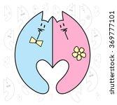 love valentine art. romantic... | Shutterstock .eps vector #369777101
