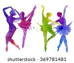 ballerina. dancer. color...   Shutterstock . vector #369781481