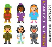 pixel art style professions... | Shutterstock .eps vector #369782504