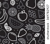 greyscale fruits seamless... | Shutterstock .eps vector #369782927