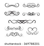 set of page decoration line... | Shutterstock .eps vector #369788201