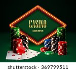casino chips lamp vintage... | Shutterstock .eps vector #369799511