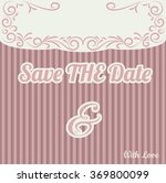 invitation card line drawing... | Shutterstock .eps vector #369800099
