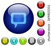 set of color comment glass web...
