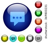 set of color working chat glass ...