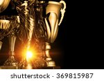 group of the golden trophies in ... | Shutterstock . vector #369815987