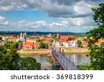 skyline of kaunas city with... | Shutterstock . vector #369818399