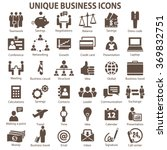 set of 36 unique business icons. | Shutterstock .eps vector #369832751