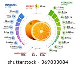vitamins and minerals of orange ... | Shutterstock . vector #369833084