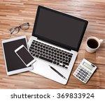 view of a wood businessman's... | Shutterstock . vector #369833924