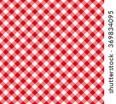 seamless red checkered plaid... | Shutterstock .eps vector #369834095