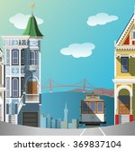 san francisco landscape | Shutterstock .eps vector #369837104