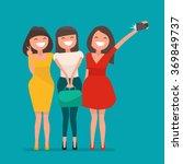 selfie shot ofthree young girls ... | Shutterstock .eps vector #369849737