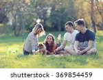 group of young people in the... | Shutterstock . vector #369854459