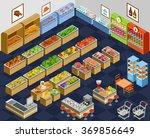 isometric supermarket | Shutterstock .eps vector #369856649