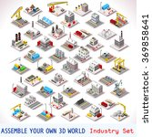 isometric factory power energy...   Shutterstock .eps vector #369858641