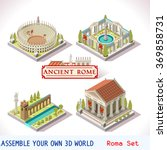 isometric building ancient rome ... | Shutterstock .eps vector #369858731