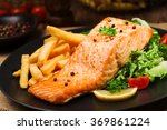 Baked Salmon Served With Frenc...
