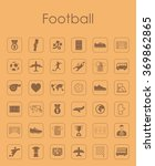 set of football simple icons | Shutterstock .eps vector #369862865