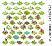 vector isometric game flat... | Shutterstock .eps vector #369867629