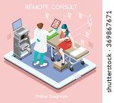 isometric 3d clinic hospital... | Shutterstock .eps vector #369867671
