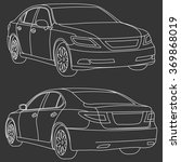 vector business car line draw... | Shutterstock .eps vector #369868019