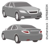 business car  illustration grey ... | Shutterstock .eps vector #369868034