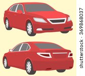 car red illustration two view | Shutterstock .eps vector #369868037