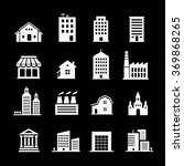 set of various buildings. white ... | Shutterstock .eps vector #369868265